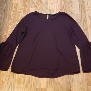 Tempted Wine colored Blouse,  burgundy tpp